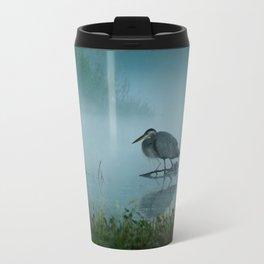 Blue Heron Misty Morning Travel Mug