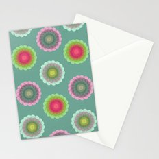 transparent floral pattern 3 Stationery Cards