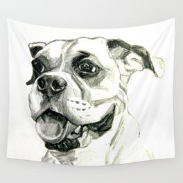 Smiling Boxer Boy Oscar Wall Tapestry