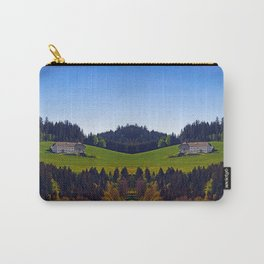 A farm, blue sky and some panorama | landscape photography Carry-All Pouch