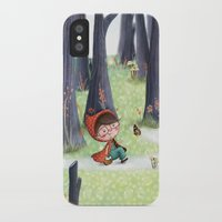 red hood iPhone & iPod Cases featuring Red Riding Hood by Antoana Oreski Illustration