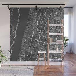 Yonkers Map, USA - Gray Wall Mural