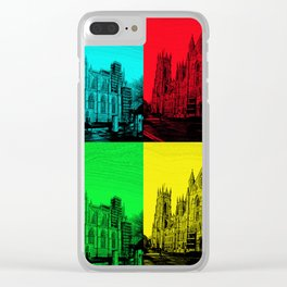 York Minster Pop Art Clear iPhone Case