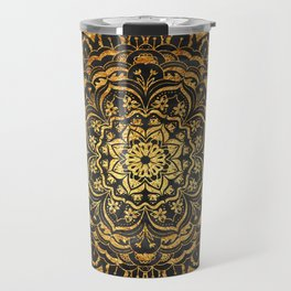 Gold Mandala Travel Mug