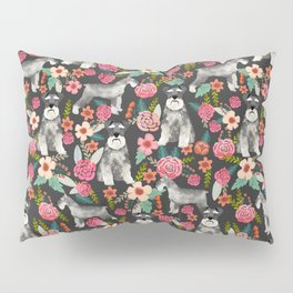 Schnauzer floral must have dog breed gifts for schnauzers owners florals Pillow Sham