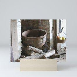 1800's Cooking Pot in Slave Quarters Civil War Era Mini Art Print