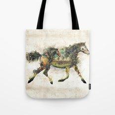 Wild Horse Surrealism Tote Bag