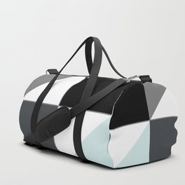 Patchwork , gray , blue ,white Duffle Bag