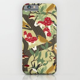 North American Forest Pattern (Natural) iPhone Case