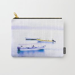 Colorful boats on a pale shimmering lake - prints - art - photography - microfiber - cotton - duvet - home decor - bedding - pillows Carry-All Pouch