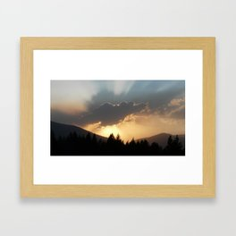 Sunset Mountain Framed Art Print