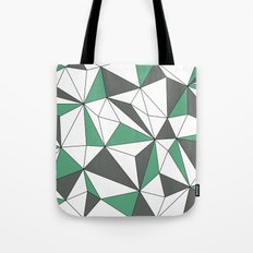 Geo - green, gray and white. Tote Bag