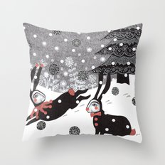 Snow Carnival Throw Pillow