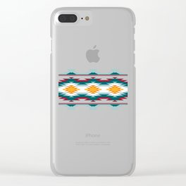 Native American Inspired Design Clear iPhone Case