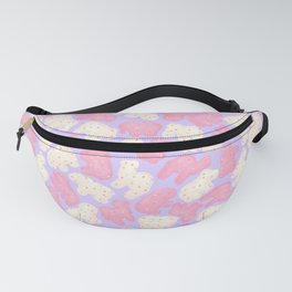 Frosted Animal Cookies on Lilac Fanny Pack