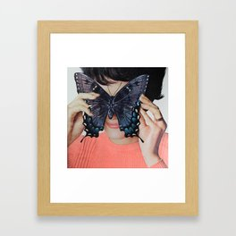 Morpho Butterfly Framed Art Print