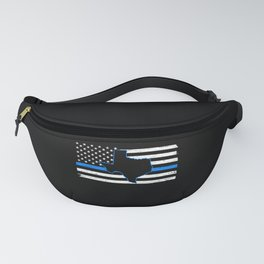 Thin Blue Line Law Enforcement Police Officer Cop Fanny Pack