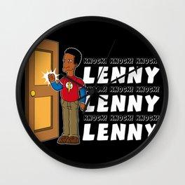 Knock, Knock, Knock Lenny!!! Wall Clock
