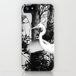 Great Egret In The Trees iPhone Case