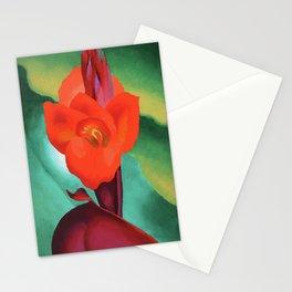 Red Canna by Georgia O'Keeffe Stationery Cards