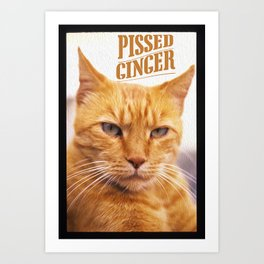 Pissed Ginger Art Print