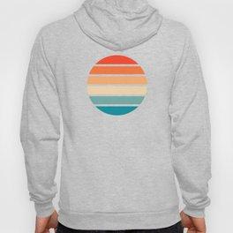 Retro Summer Sunset Stripes In Circle - Emiyo Hoody