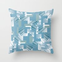 data Throw Pillows featuring Data I by dominiquelandau