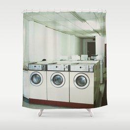 Grungy Laundromat Shower Curtain