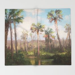 Heart of the Everglades Throw Blanket