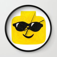 Sunglasses - Emoji Minifigure Painting Wall Clock