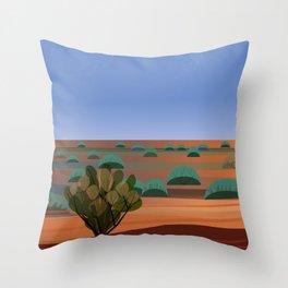 Twilight in the Desert Throw Pillow