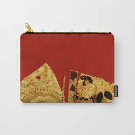 torn golden floral on red Carry-All Pouch