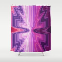 Purple & Pink All Over Shower Curtain