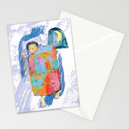 Sleeping and dreaming illustration, design for children Stationery Cards