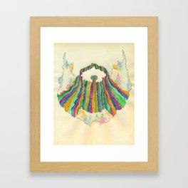 Yacht Rock Beard Framed Art Print