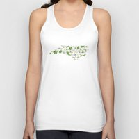 north carolina Tank Tops featuring North Carolina in Flowers by Ursula Rodgers