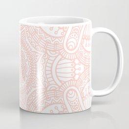 Rose Pink Ethnic Mandala Pattern Coffee Mug