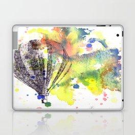 Hot Air Balloon Rising in Color Laptop & iPad Skin