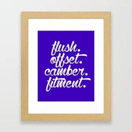 flush offset camber fitment v6 HQvector Framed Art Print