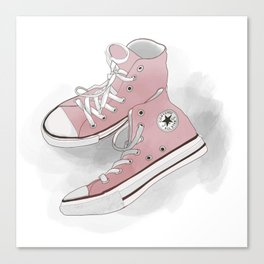 pink all-star converse sneakers Canvas Print