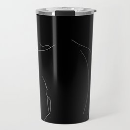 Minimal line drawing of woman's body - Alex black Travel Mug
