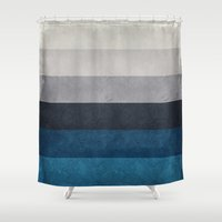 greece Shower Curtains featuring Greece Hues by Diego Tirigall
