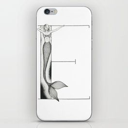 Mermaid Alphabet - E iPhone Skin