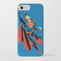 dc iPhone & iPod Cases featuring DC - Superman by TracingHorses