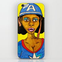 captain silva iPhone & iPod Skins featuring Captain by N3RDS+INK