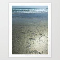 Footprints Made of Gold Art Print