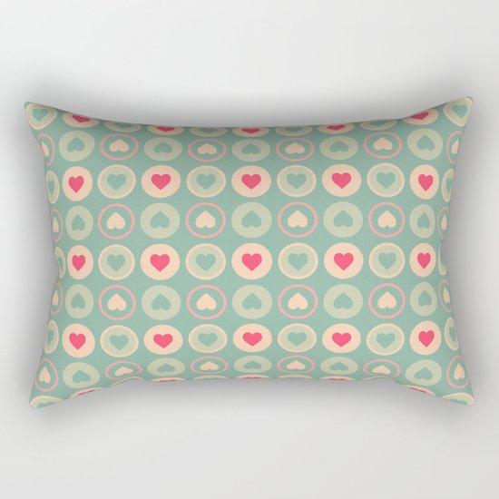 Cookie Love Retro Pattern Rectangular Pillow