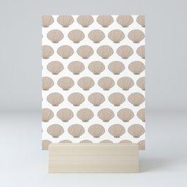 Coastal Seashells in Beige Mini Art Print