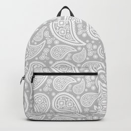 Paisley (White & Gray Pattern) Backpack