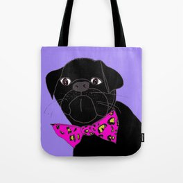 Jasper is in your Closet, Wearing your  Pink Leopard-Print Bow tie Tote Bag